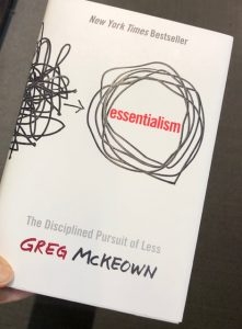 Essentialism Greg McKeown Recommended Book Gift Guide for business and self improvement