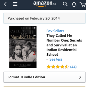 book gift guide Bev Sellars they called me number one recommended