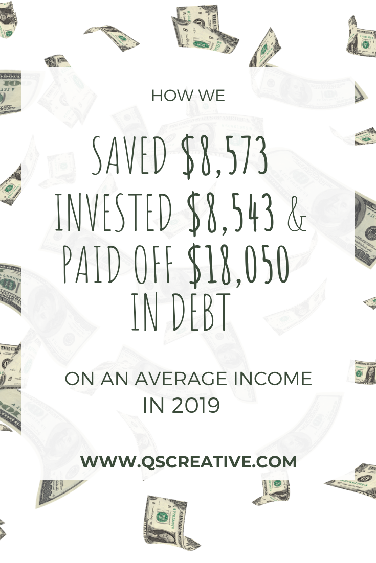 how we invested, saved money and paid off debt on an average in come in 2019