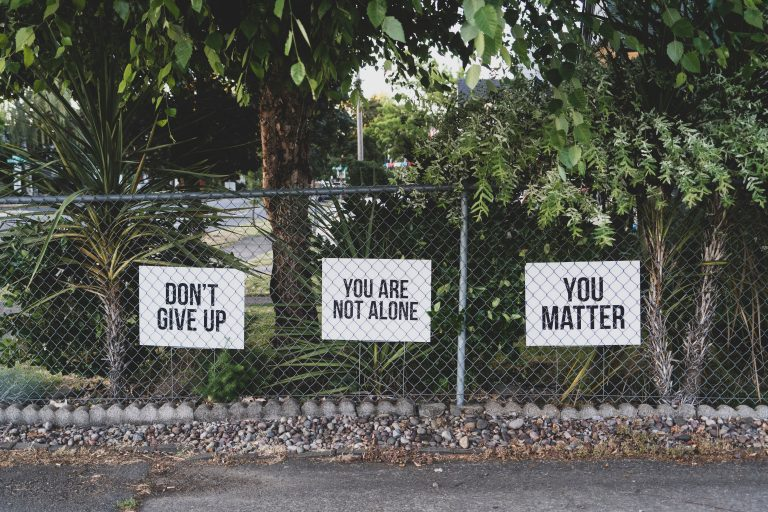 stay positive have hope you are not alone